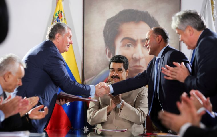 During the visit, Sechin also discussed Rosneft's cooperation with Venezuelan state energy company PDVSA, the statement said. Reuters