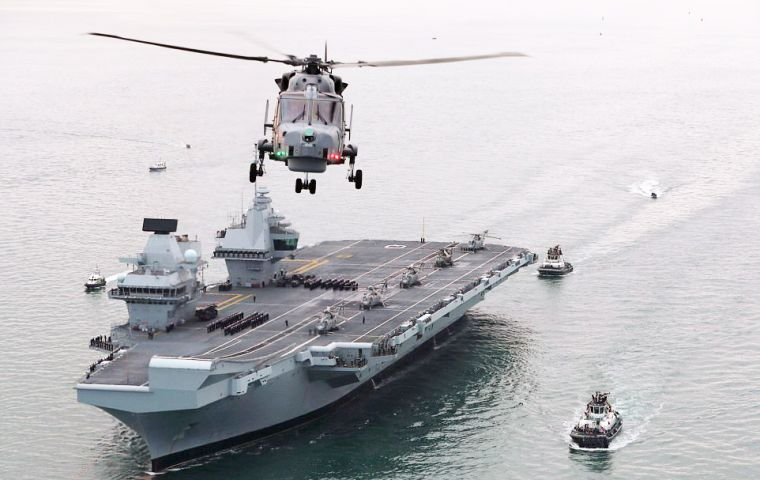 HMS Queen Elizabeth reportedly has a major defect with the stern seal which surrounds its huge propeller shafts.