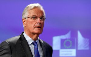 """There is no place (for financial services),"" Barnier said. ""There is not a single trade agreement that is open to financial services. It doesn't exist."" Reuters"