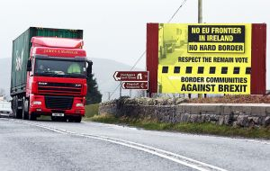 The one land border between the UK and EU is in Ireland: Northern Ireland is part of the UK and on its way out of EU; the Republic is staying in the EU