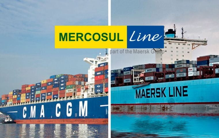 CMA CGM and Maersk Line announced a binding agreement in June, subject to Brazilian regulatory approval and closing of Maersk's Hamburg Süd acquisition.