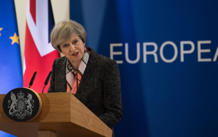 """We are not going to exclude Gibraltar from our negotiations for either the implementation period or the future agreement"" underlined Theresa May"