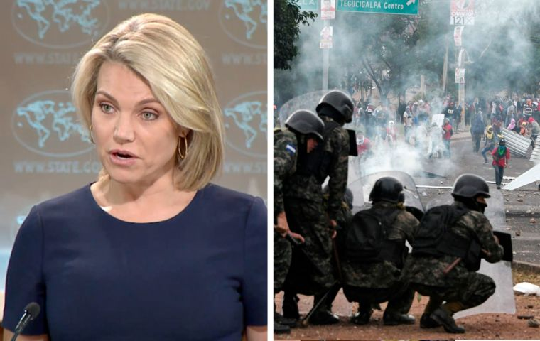 State Department spokeswoman Heather Nauert said all sides should aim to end the recent violence that has killed at least 17 people.