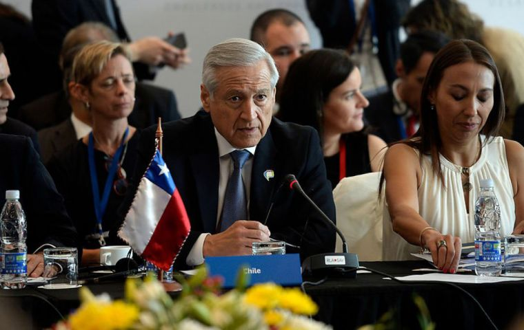 Munoz invited his regional counterparts to the upcoming summit between CELAC, the region's largest group and China, which Chile is to host on January 21 and 22.