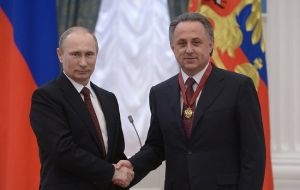 Mutko served on the FIFA council until March after he was barred upon his appointment as deputy prime minister.