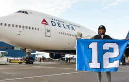 Delta Air Lines marked on Christmas Day the official retreat of the Queen of the Skies with a charter flight of the NFL Seahawks