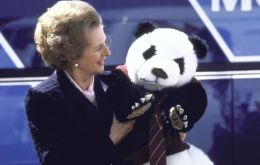 "Appalled at the prospect, Thatcher scribbled in her blue felt pen: ""I am not [double underlined] taking a panda with me. Pandas and politicians are not happy omens!""."