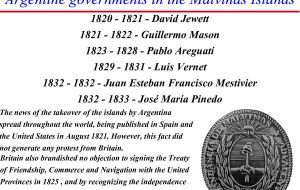 An Argentine document with the list of Falklands/Malvinas governors