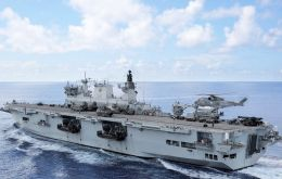 HMS Ocean is the UK's only helicopter carrier and the fleet flagship of the Royal Navy. She is designed to support amphibious landing operations