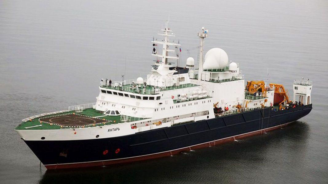 """""""El Yantar tiene equipos diseñados para el seguimiento en alta mar y dispositivos que pueden conectarse a cables de comunicaciones de alto secreto"""", dijo Parlamentskaya Gazeta."""
