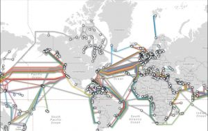 Dozens of fiber-optic cables span the globe and Nato also has dedicated military cables on the ocean floor.