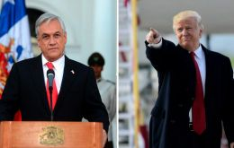 The two leaders addressed international issues, with a particular interest of events in Venezuela.   Piñera has been a strong critic of Venezuela's Nicolas Maduro