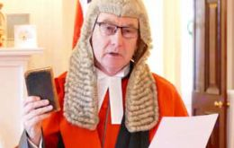 "James Lewis QC commented that he was very much looking forward ""to taking up the appointment of Chief Justice and getting to know the Falkland Islands"""