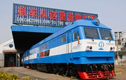 Manufactured by China's CRRC Qishuyan, locomotives are a comprehensive plan to reactivate the rail system by modernizing its aging infrastructure