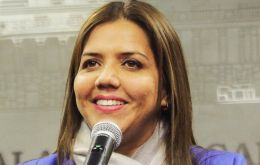 Psychologist Maria Alejandra Vicuña, who was serving as interim vice president and minister of urban development and housing was officially confirmed