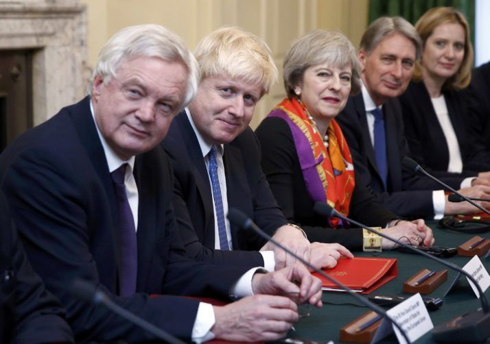 Foreign Secretary Boris Johnson Brexit Secretary David Davis Home Secretary Amber Rudd and Treasury chief Philip Hammond all kept their jobs