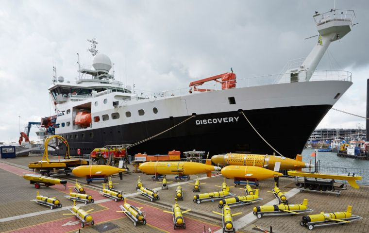 The RRS Discovery was designed by A.S. Skipsteknisk and was delivered to the National Oceanography Centre on 8 July 2013. (Pic NOC)