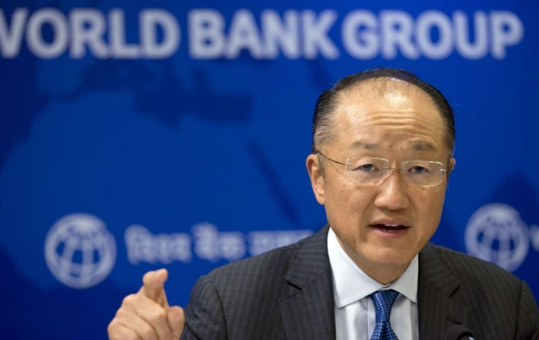 """The broad-based recovery in global growth is encouraging, but this is no time for complacency,"" World Bank Group president Jim Yong Kim said."