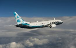 Boeing reached a new high on the 737 program as it raised production to 47 airplanes a month during the year and began delivering the new 737 MAX