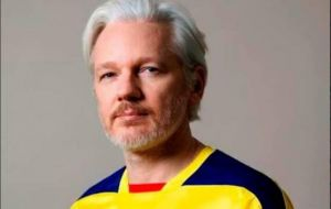 The development follows reports by the Ecuadorian press that Assange, Australian by birth, recently became an Ecuadorian citizen and was granted a passport.