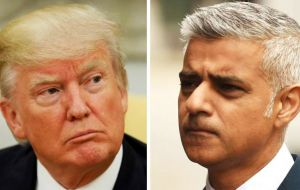 "Mayor of London Sadiq Khan, said the US president had ""got the message"" that many Londoners were staunchly opposed to his policies and actions."