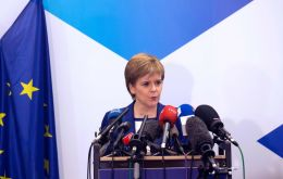 Scottish First Minister Nicola Sturgeon launched the paper with a speech in Edinburgh, alongside her Brexit minister Mike Russell.