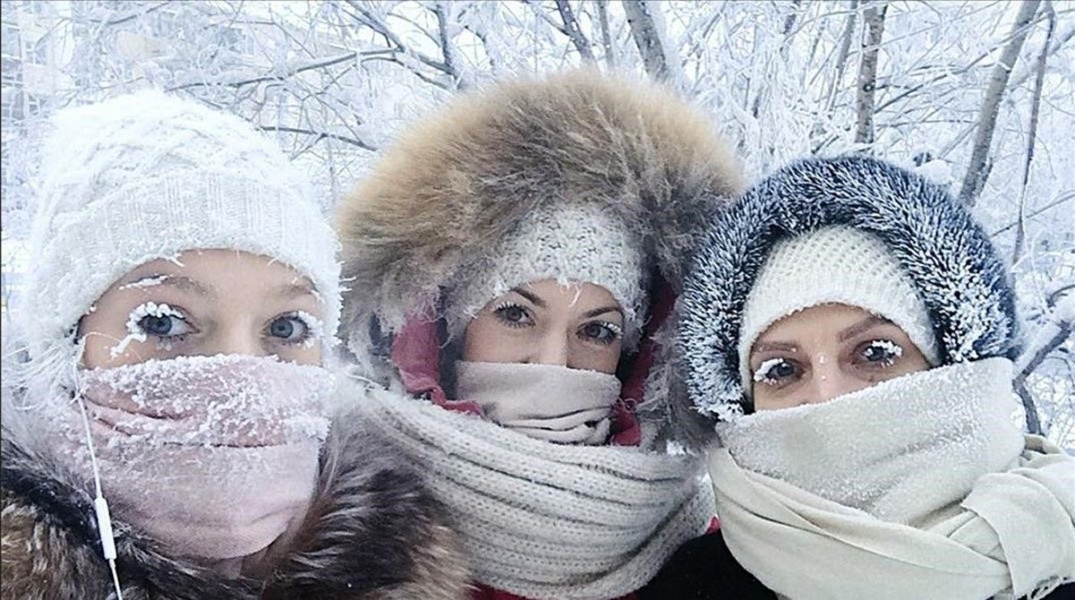 It's so cold in parts of Siberia that eyelashes are freezing