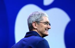 "Chief executive Tim Cook said Apple is ""focusing our investments in areas where we can have a direct impact on job creation""."