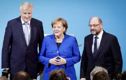 """The cornerstones of this policy paper cannot be renegotiated,"" Merkel told the press.  At most, it was possible to ""finalize"" some of its legislative points"