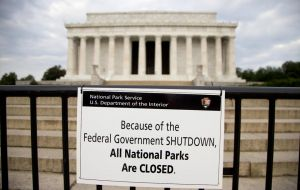 Many public sector workers will be sent home without wages and services such as National parks or Museums will be closed or partially closed