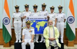 Team Tarini with Indian PM Narendra Modi