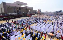 The crowd at the military base of 1.3 million people reported by the Vatican was the largest of Francis' weeklong, two-nation visit.