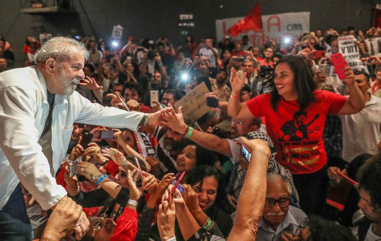 Lula could be barred from the 2018 election. Photo: Ricardo Stuckert/IL