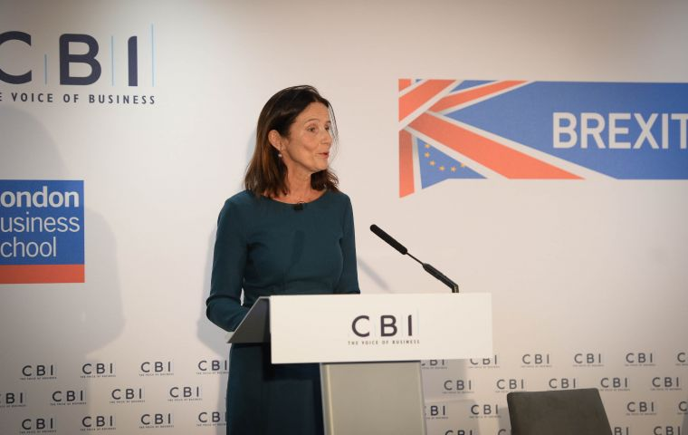 "Carolyn Fairbairn, head of the UK business group, said there was a ""lack of clarity"" surrounding ongoing talks about the future of UK-EU trade."