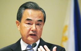 Minister Wang Yi arrived from Chile where he presided a conference on Latin America and China trade and investment relations