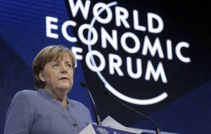 Merkel evoked the two world wars and questioned whether the West had learned the lessons from those conflicts.