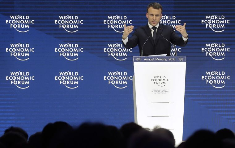"Macron spoke for a full hour, and called for a ""global compact"" to address the economic forces that have led to rising inequality and a surge in populism."