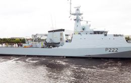 The 90-metre warship, which successfully completed her maiden sea trials in December, will soon be sailed to Her Majesty's Naval Base Portsmouth