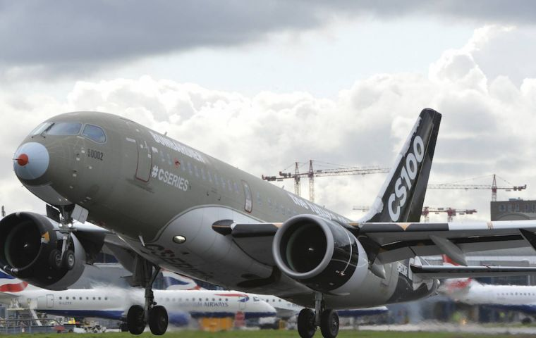 Tariffs of 292% will not now be imposed on orders of C-Series planes by American carriers. About 50 companies in the UK supply Bombardier with parts