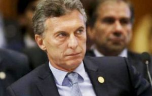 """Argentina will not recognize this election,"" Macri told the media in an interview in Paris on Saturday, a day after talks with President Emmanuel Macron."