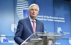 "Speaking at a press conference, chief negotiator Barnier said UK would be allowed to attend decision-making meetings on a ""limited, exceptional, case by case basis."""
