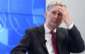 "Downing Street has rejected calls for Philip Hammond, under fire after suggesting Brexit should result in ""very modest"" changes in EU-UK trade, to be sacked."