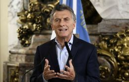 """If Argentines chip in, all of us who are part of politics must make twice the effort and lead by example,"" Macri said"
