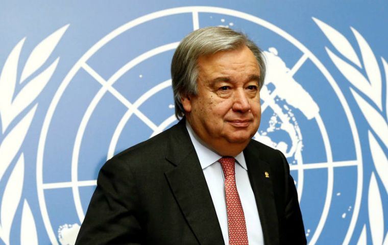 Secretary-General Guterres stated that he has chosen the International Court of Justice as the means to be used for the solution of the controversy.