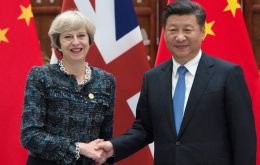 Ahead of the trip, May admitted the two countries have had their differences, mainly Chinese steel over-production which has harmed the British steel industry.