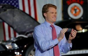 """Build a wall, and my generation will tear it down"" said Joe Kennedy III"