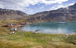 Grytviken, the South Georgia settlement where government offices are located