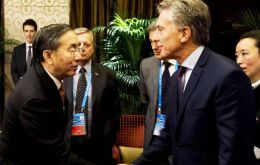 "Macri and Xiao discussed bilateral cooperation and China's ""One Belt, One Road"" infrastructure project involving more than 68 countries and 40% of global GDP"