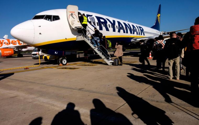 """Our policy is very clear for our customers and seats can be purchased from just €2 and kids travelling in families get free seats,"" a Ryanair spokeswoman said."