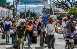 There are at least 600,000 Venezuelans on Colombian ground. Many of whom are in transit to Chile, Ecuador or Peru